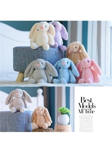 Sole HEDİYELİ- Uyku Arkadaşım Uzun Kulak Bunny Peluş Tavşan 45 cm Mavi